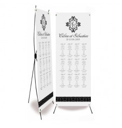 Table plan banner corset baroque