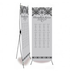 Table plan banner silver baroque
