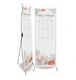 Plan de table mariage automne gris
