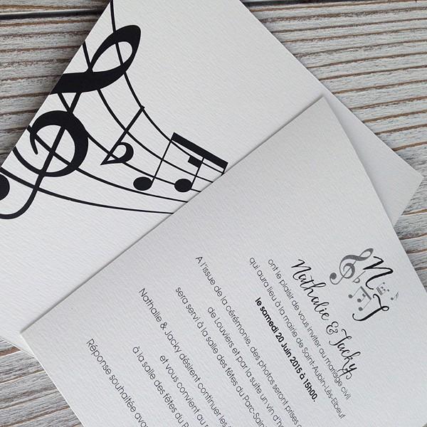 Wedding Invitation Music Notes