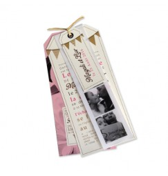 Wedding invitation Pink Flags