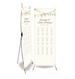Plan de table mariage fanion photomaton