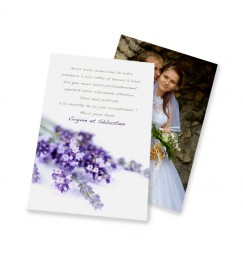 Classic thank you card lavender