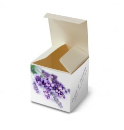 Wedding favour box lavender