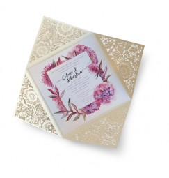 Wedding invitation country frise