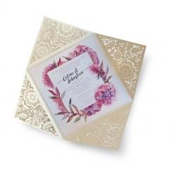 Wedding invitation country frise