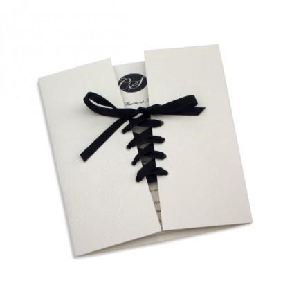 Wedding invitation corset