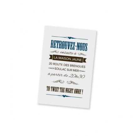 Carton d'invitation biarritz