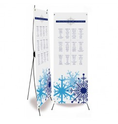 Table plan banner blue snow