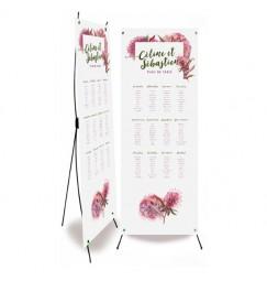 Plan de table mariage dentelle champêtre