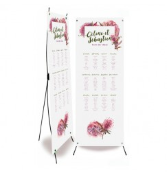 Table plan banner country frise