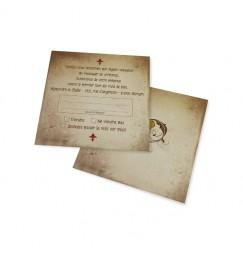 RSVP card vintage triptique