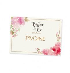 Nom table aquarelle fleurs
