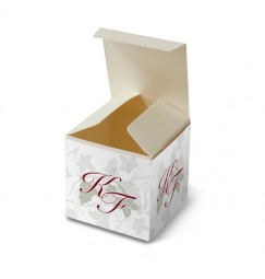 Wedding favour box red wine