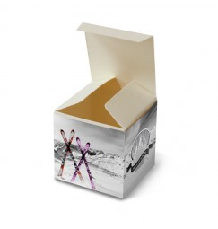 Wedding favour box ski
