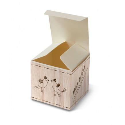 Wedding favour box vintage wood
