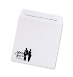 Enveloppe mariage silhouettes