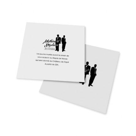 Carton d'invitation silhouettes