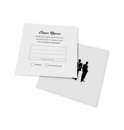 Carton réponse silhouettes