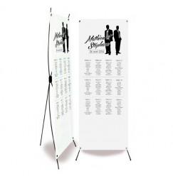 Plan de table mariage silhouettes