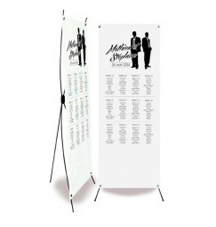 Wedding table plan silhouettes