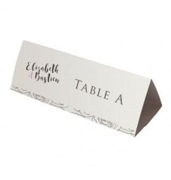 Nom table fleurs gris rose