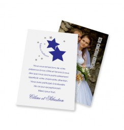 Classic thank you card stars