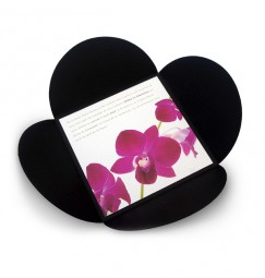 Wedding invitation orchid