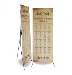 Wedding table plan medieval