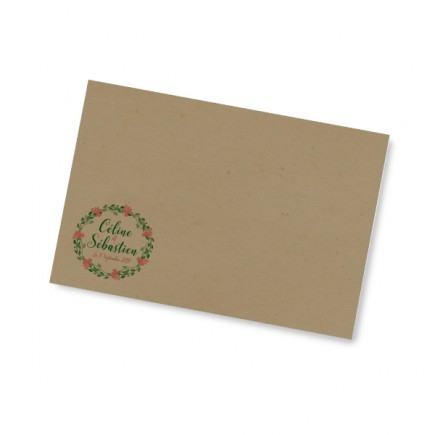 Enveloppe mariage the flowers of the landes