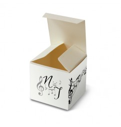 Wedding favour box music notes