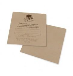 Carton réponse dentelle arbre