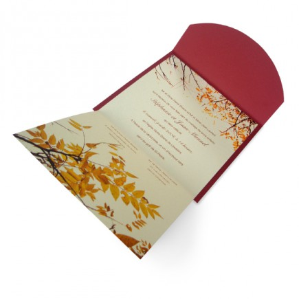 Wedding invitation autumn