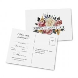 RSVP card Elegant Rose