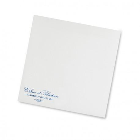 Enveloppe mariage blue lace