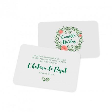 Carton d'invitation flower reef