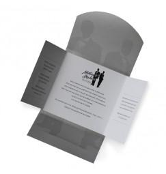 Wedding invitation silhouettes