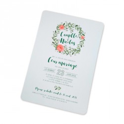 Wedding invitation flower reef