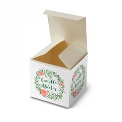 Wedding favour box flower reef