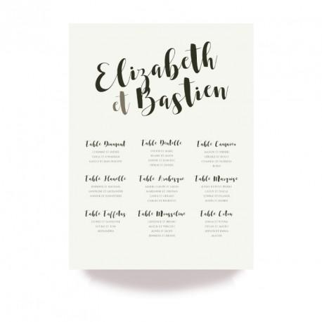 Table plan corset arabesque