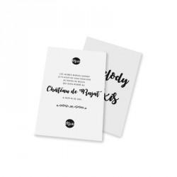 Carton d'invitation vintage blanc