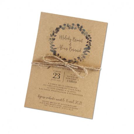 Wedding invitation Eucalyptus