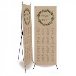 Table plan banner eucalyptus
