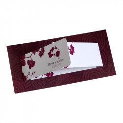 Wedding invitation australian orchid