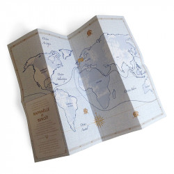 Wedding invitation map of gironde invitation