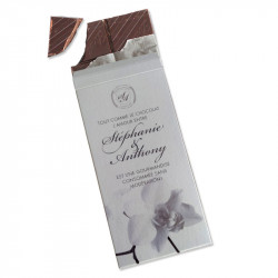 Wedding invitation chocolate bar