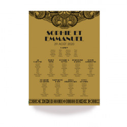Table plan art deco