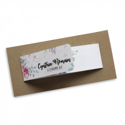 Wedding invitation flower wrap
