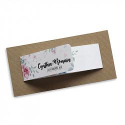 Wedding invitation flower wrap