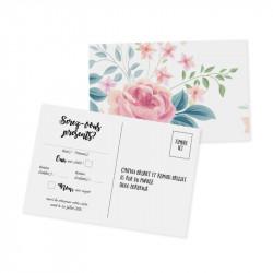 RSVP card flower wrap